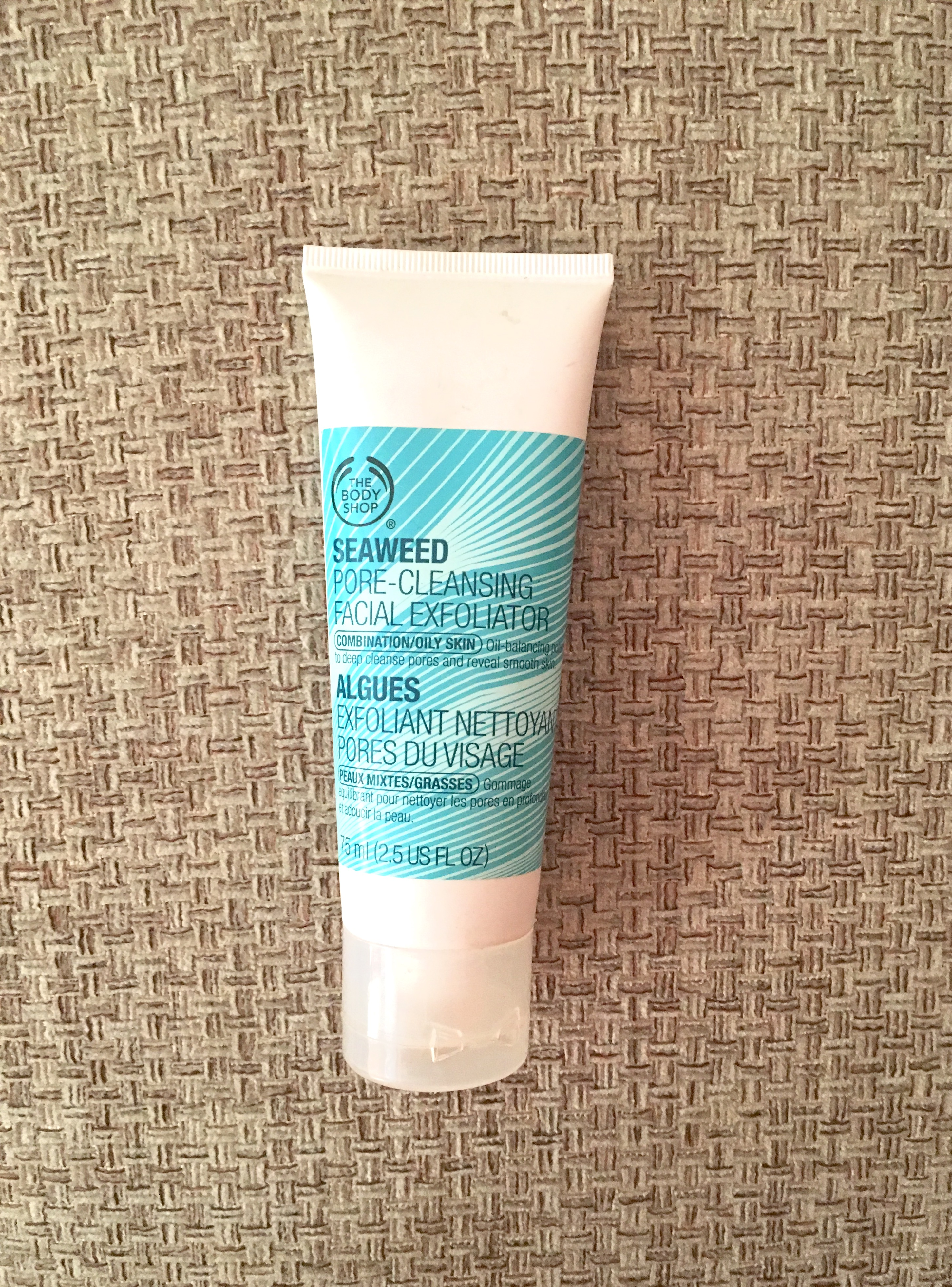 the body shop seaweed pore cleansing facial exfoilator, body shop seaweed exfoilator, seaweed scrub, seaweed