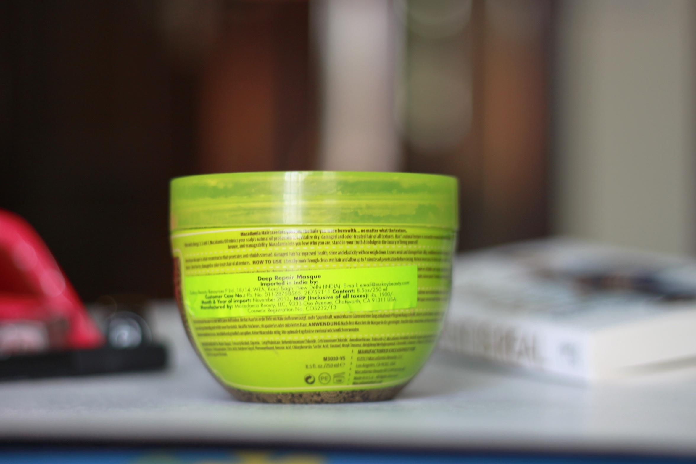 macadamia deep repair masque, macadamia hair mask, macadamia hair conditioner, deep repair hair mask