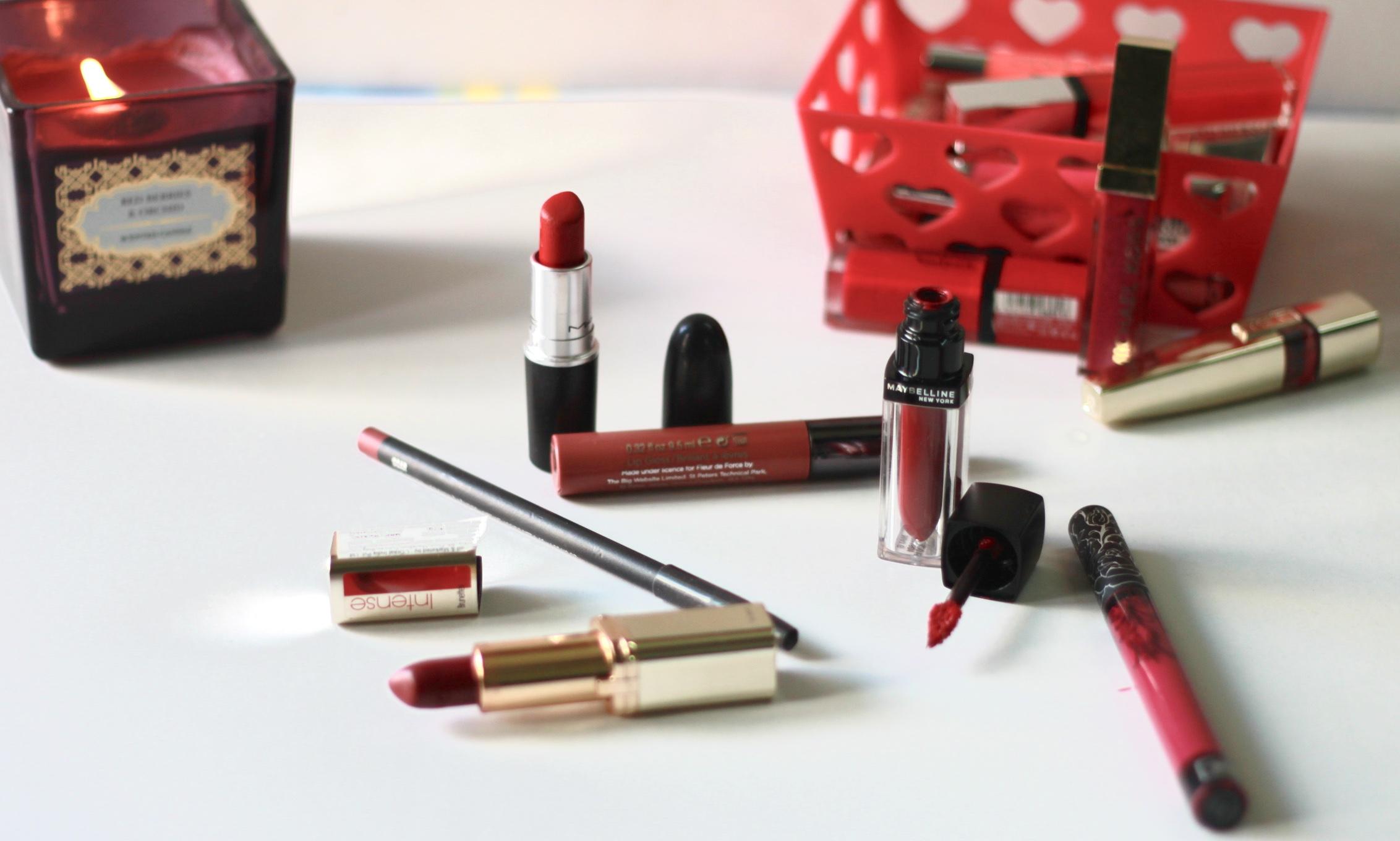 top 5 winter lipsticks, winter lipsticks, MAC ruby woo, maybelline velvet mat, fleur de force, mac soar, kat von d