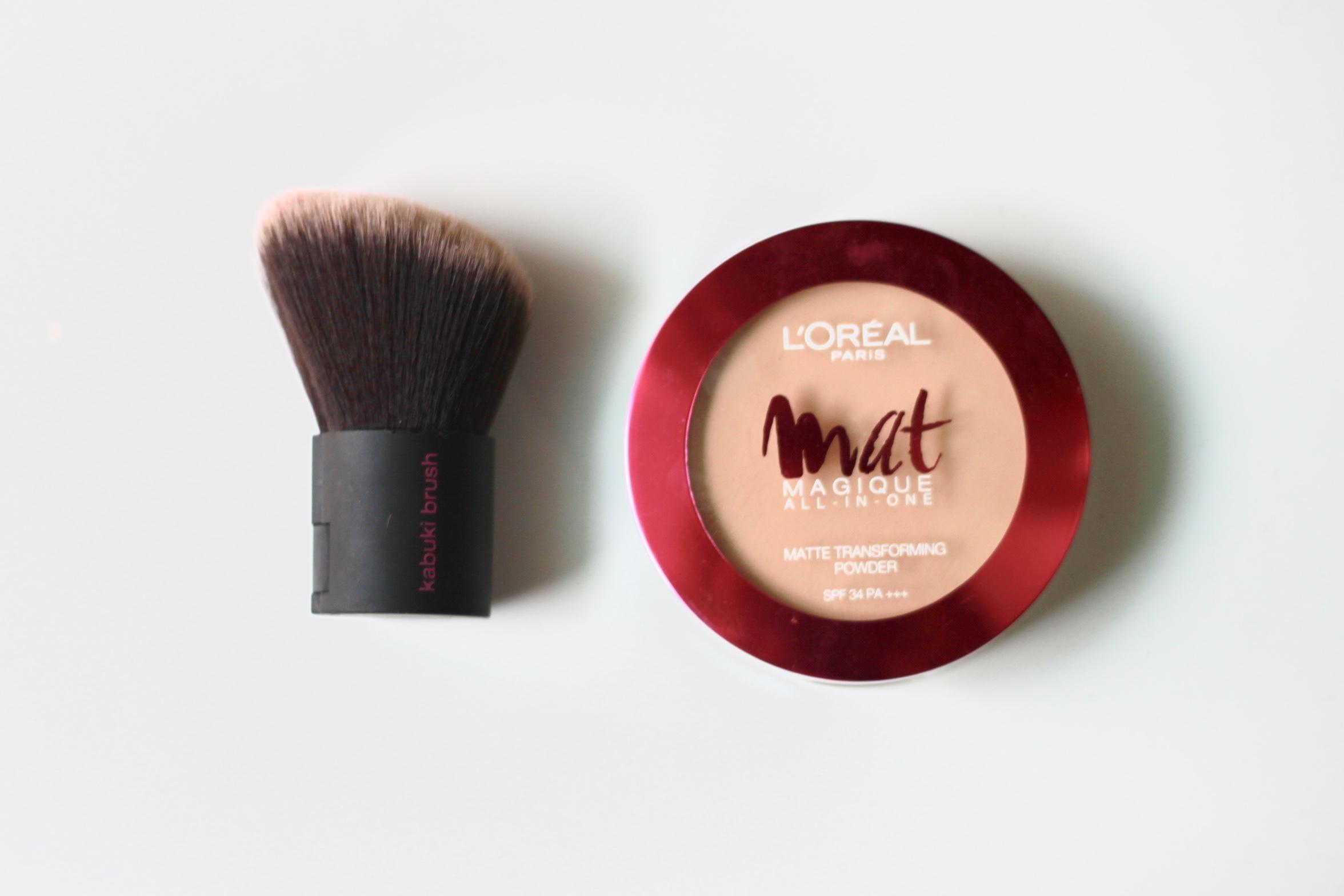 Loreal Mat Magique compact powder, loreal compact, loreal powder, loreal mat magique, real techniques, real techniques kabuki brush