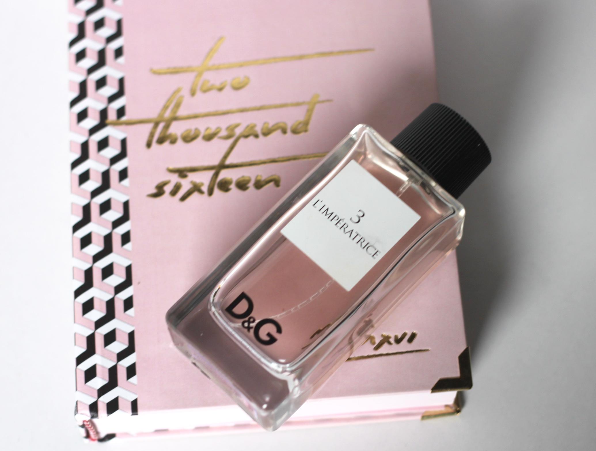 My 2015 Skincare Favorites, d&g perfume